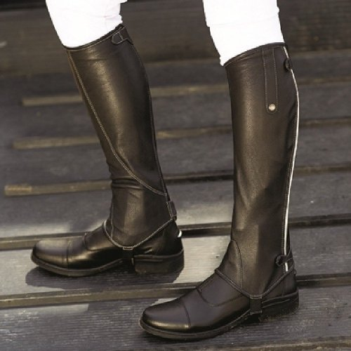 Mark Todd Adults Patent Piped Leather Chaps