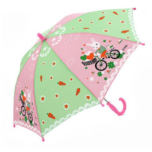 Childrens  Rainy Day Umbrella /Bright colors/Kids Umbrella,Rabbit