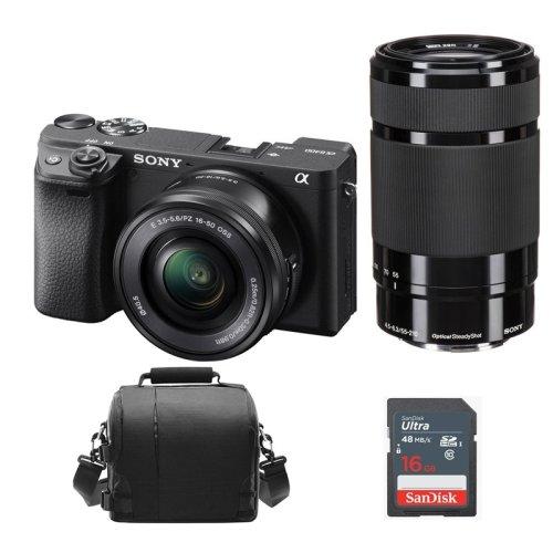 SONY A6400 Body +16-50MM F3.5-5.6+55-210MM F4.5-6.3+Bag+16GB SD card