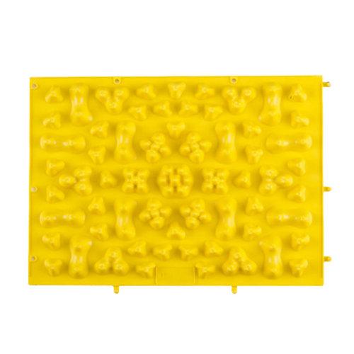 TPE Acupressure Foot Massage Mat Shiatsu Pressure Slab Toe Pad Yellow A