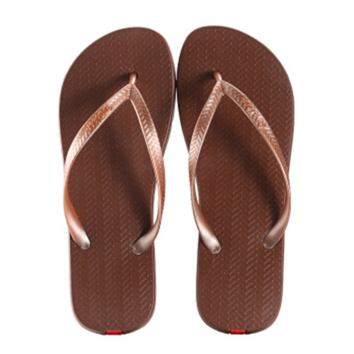 Unisex Casual Flip-flops Beach Slippers Anti-Slip House Slipper Coffee