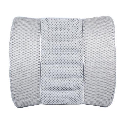 Simple Design Bamboo Charcoal Lumbar Support/Back Cushion, GRAY