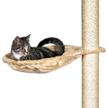 Trixie 43541 Hammock Style Seat For Cat Tree Metal Frame 40cm Beige - -  trixie cat scratching hammock tree metal frame beige post bed nest bag new