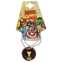 Jewel M Wolverine Head Image Necklace