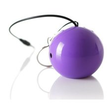 KitSound Mini Buddy and Portable Rechargeable Universal Wired Speaker with USB Charging Cable Compatible with Smartphones , Purple , KSMBPU