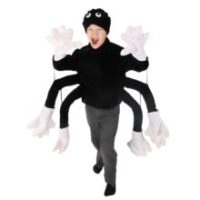 Costume Child Animal Spider Top & Hat -  animal childrens costumes perfect book week nativity parties spider top