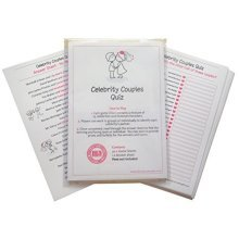 Hen Night Celebrity Couples Quiz Game including 20 Game Cards  - plus answer sheet