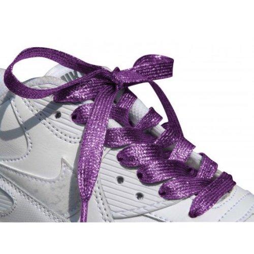 Purple Glitter Metallic Sparkly Flat Shoelaces