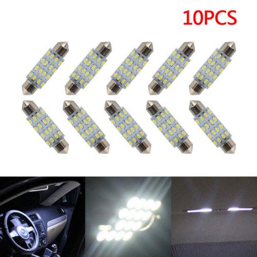 10X 35mm C5W 12V 16SMD White Car Interior Dome Festoon LED Light Bulb Lamp UK