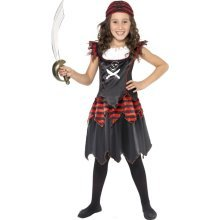Pirate Girl Costume -  pirate costume fancy dress girls gothic kids skull book crossbones day child outfit