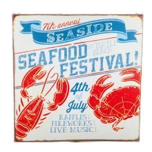 San Fran' Nautical 'Seafood Festival' Canvas Print Wall Art for the Home