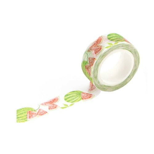 Lovely Watermelon Pattern Sticky Paper Masking Adhesive Tape for DIY Crafts (Set of 6 Rolls)