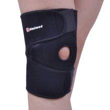 Breathable Neoprene Knee Support Open Patella Design, One Size, Black