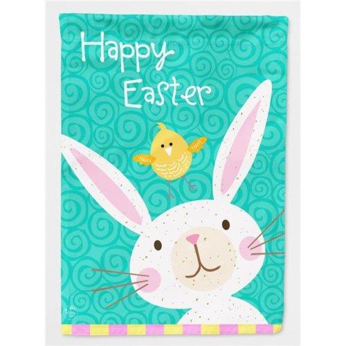 Carolines Treasures VHA3032CHF Happy Easter Rabbit Flag Canvas House Size
