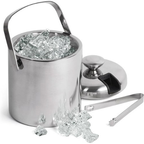 Stainless Steel Ice Bucket with Lid and Ice Tongs