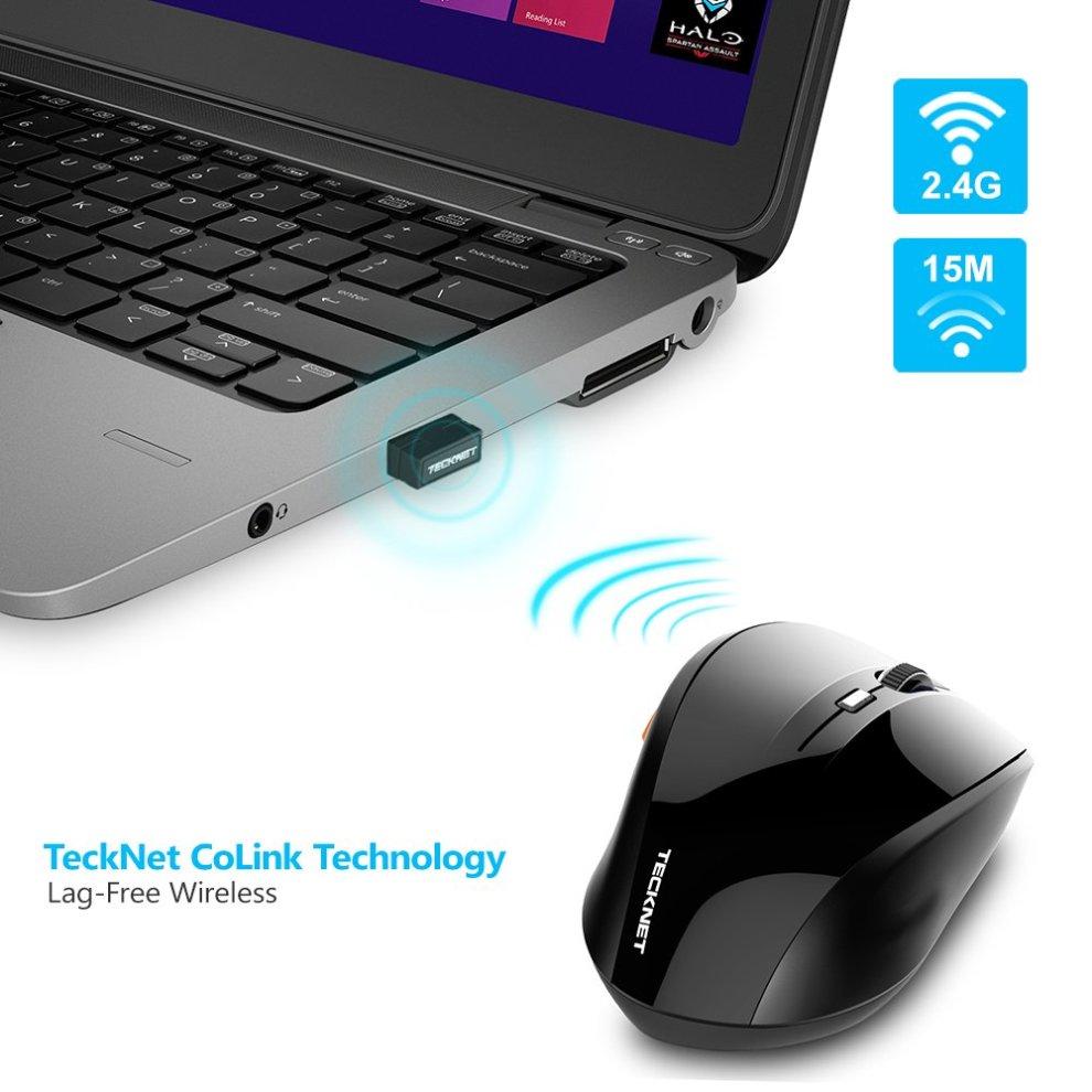 cc19c307025 ... TeckNet M002 TrueWave 2.4G Wireless Mouse - Black - 1 ...