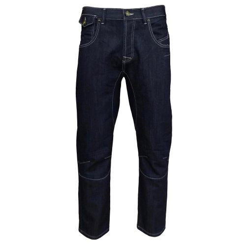 Henleys Teller Project DLX Men's Straight Leg Jeans dark blue denim