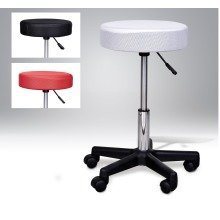 Homcom Massage Stool- Changeable Covers - Red, White & Black