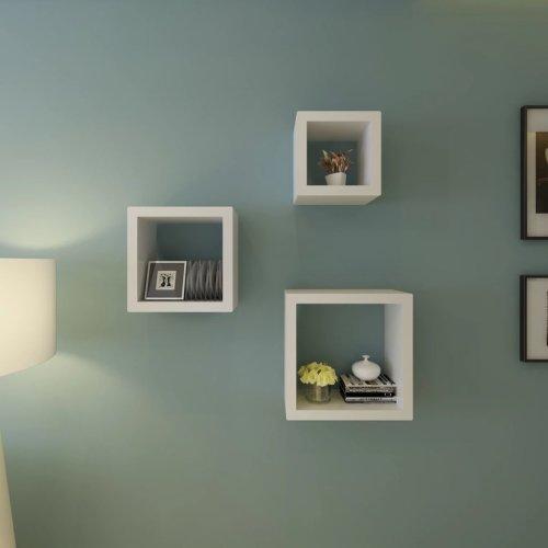 vidaXL 3x Cube Shelves white Stand Storage Display Unit Bookcase Furniture