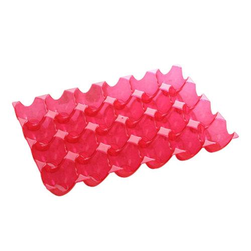 2PCS Kitchen Plastic Egg Storage Boxes Eggs Holder Eggs Trays 24 Grid Red