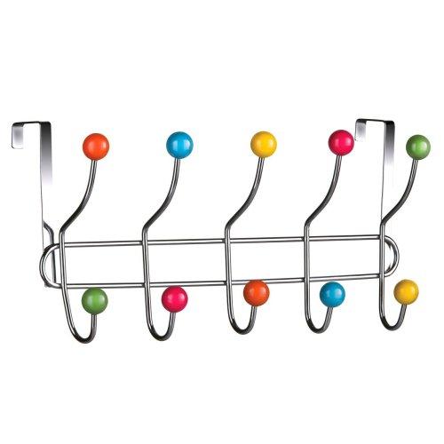 10 Hook Over Door Hanger - Multi-Coloured