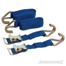 2m x 25mm 2pk Easy Lock Straps - Easy Silverline Set 449215 2pce Tie Down -  easylock straps silverline x 2m 25mm set 449215 2pce tie down