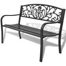 vidaXL Garden Bench Black Cast Iron