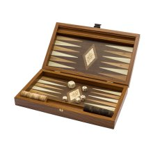 Travel Backgammon Set - 'The Olive' by Manopoulos