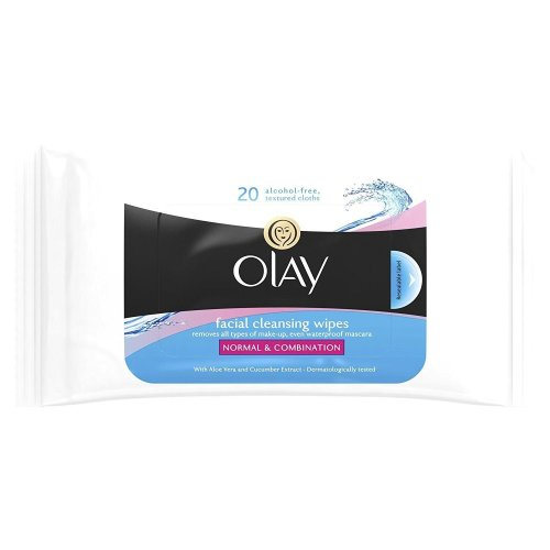 Olay Essentials Facial Cleansing Wipes For Normal And Combination Skin 20 Wipes