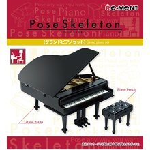 Pose skeleton accessories grand piano set Re-Ment