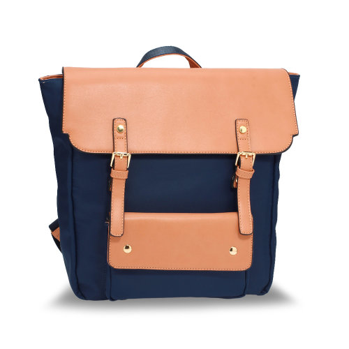 Anna Grace Navy / Nude Backpack Rucksack School Bag