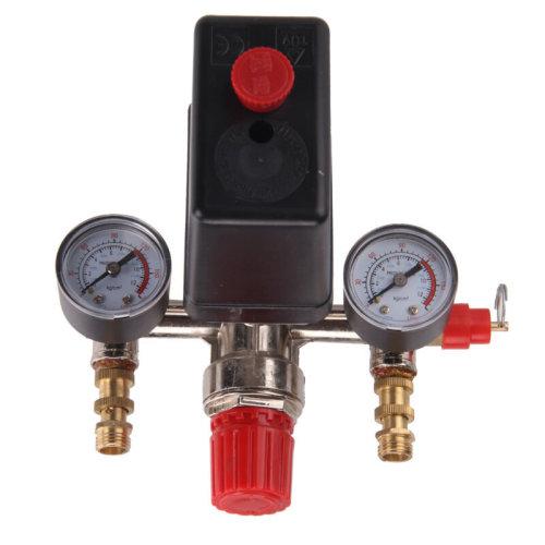 Heavy Duty Pump Single Phase Compressor Pressure Switch Air Valve & Gauge UK