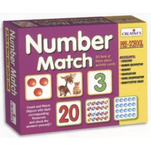 Creative Pre-school Number Match Game - Preschool Educational Cards -  creative preschool number match educational cards
