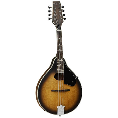 Tanglewood TWMOSVSG Teardrop Mandolin with Oval Soundhole Solid Spruce Top Mah B&S Vintage Burst Gloss