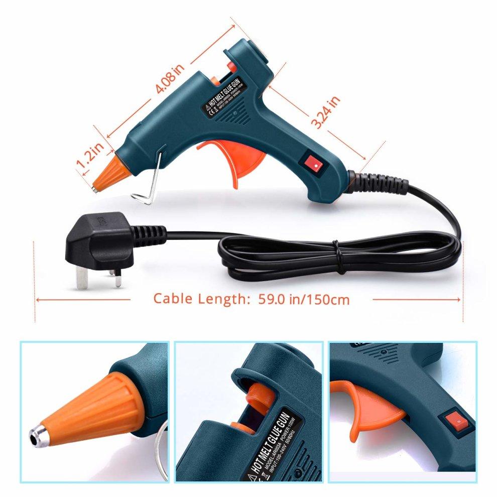 Hot Glue Gun,TOPELEK Heats Up Quickly 20W Mini Heating Hot Melt Glue Gun  with Sticks(50pcs 100mm), ON-Off Switch for DIY Arts, Hobby, Craft, Home