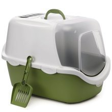 Stefanplast Cat Litter Box Cathy Easy Clean Green 400418
