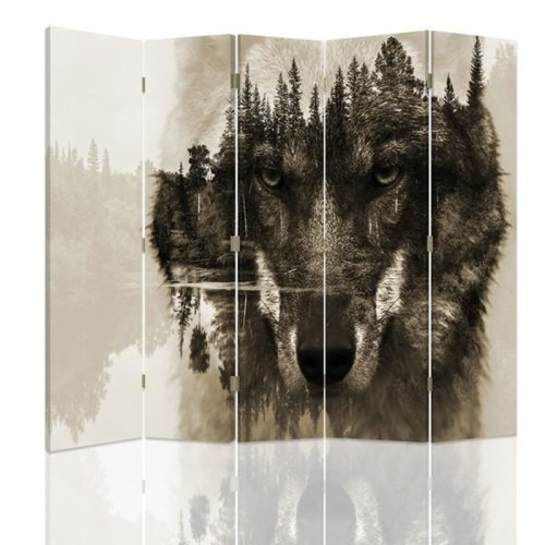 Wolf Forest Screen/Room Divider