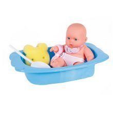 Take a Bath Baby Doll Pretend Play Toy for Kids BLUE