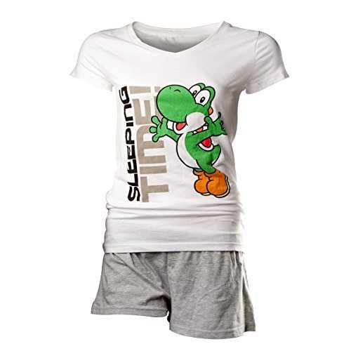 Flashpoint AG Super Mario Yoshi Sleeping Time Pyjamas white-grey L (New)