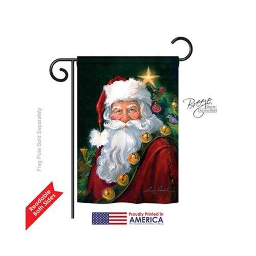 Christmas Santa Portrait 2-Sided Impression Garden Flag - 13 x 18.5 in.