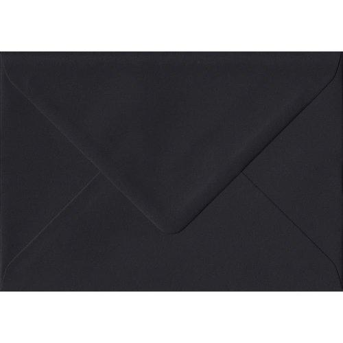 Black Gummed C7/A7 Coloured Black Envelopes. 100gsm FSC Sustainable Paper. 82mm x 113mm. Banker Style Envelope.