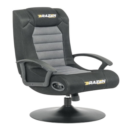 BRAZEN Stag 2.1 Bluetooth Surround Sound Gaming Chair, Black/Grey