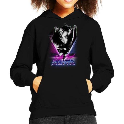 Battle Angel Alita Retro Kid's Hooded Sweatshirt