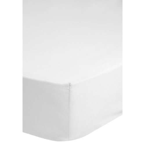 Emotion Non-iron Fitted Sheet 90x220 cm White 0220.00.43