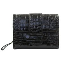 PU Vintage Style Wallet Purse Pouch Bag Card Holder Multifunctional, Black