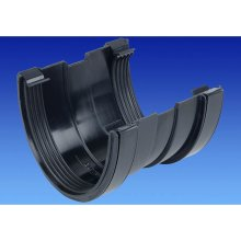 OSMA BLACK 113mm Gutter Union for DeepLine 4.5:2.5 System 9T909b