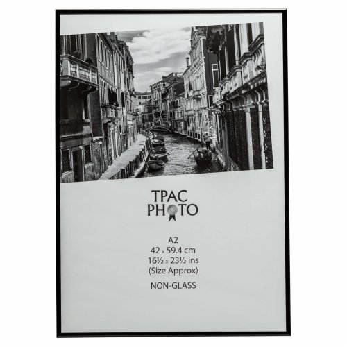 The Photo Album Company PAAFA2B-BLK Luxury Black Satin Aluminium A2 Frame