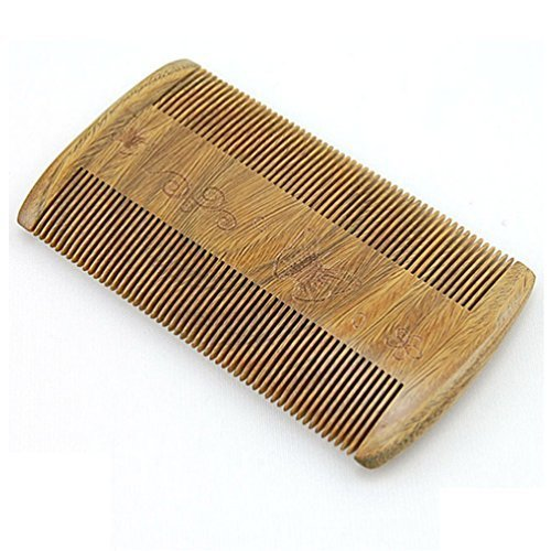 Modocomb Charm Handmade Natural Green Sandal Wood Comb With Natural Wood Aromatic Smell Flying Butterfly Fine Toothed 4 09X2 15 Inch
