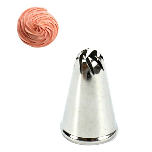 Set of 5 Cake Decorating Tips Stainless Steel Pastry Tube
