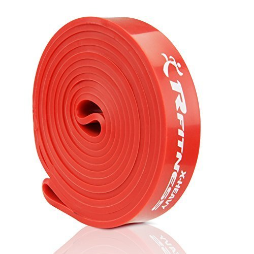 RFitness Furinno RF1506 RD Professional Long LOOP Stretch Latex Exercise Band 41X Heavy Red